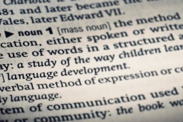 Definition of word language